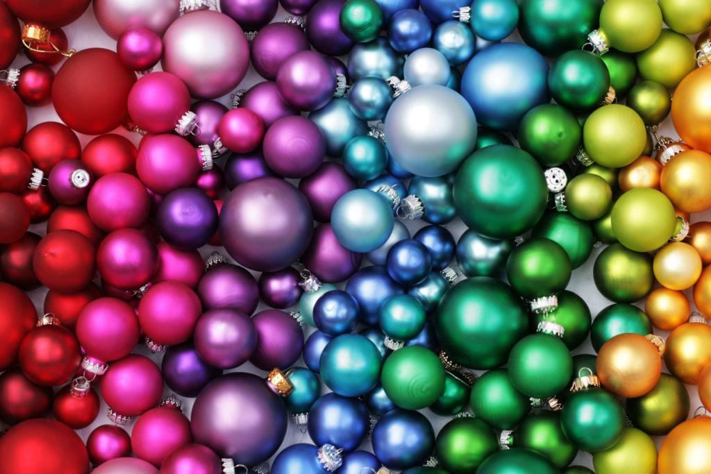 Camaïeu de boules de Noël