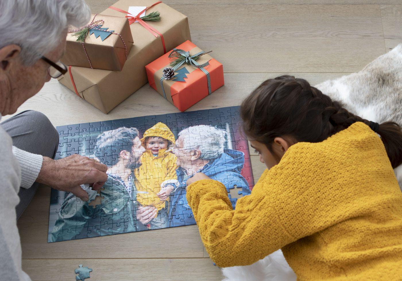 Puzzle personnalisé cadeaux pour Noël