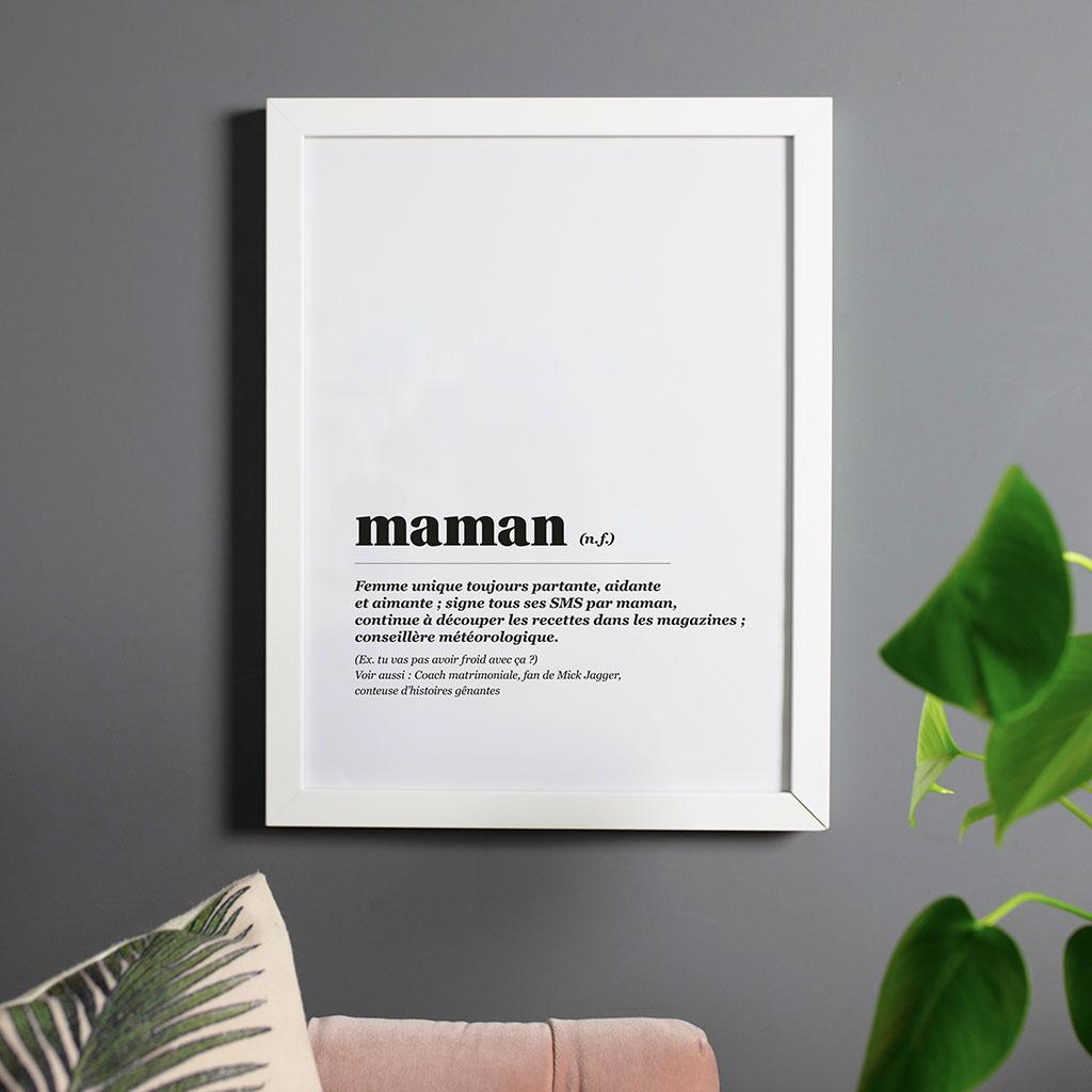 Affiche Définition Maman